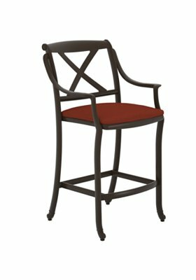 BelMar 30 Patio Bar Stool with Cushion by Tropitone