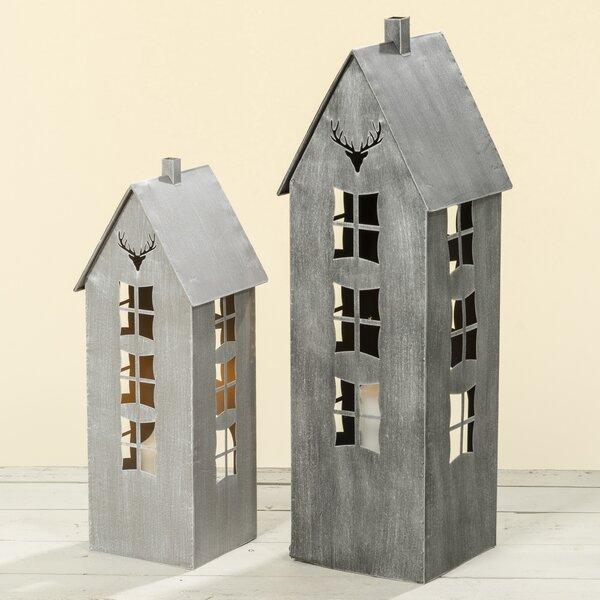2 Piece Metal Lantern Set by Millwood Pines