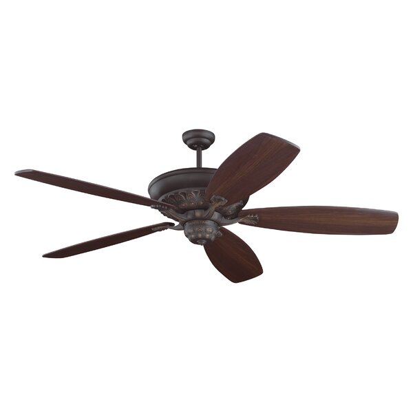60 Finian Blades Separate Ceiling Fan Motor with Remote by Darby Home Co