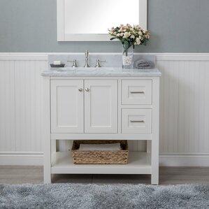 White Bathroom Vanity 36 36 to 40 inch bathroom vanities you'll love | wayfair
