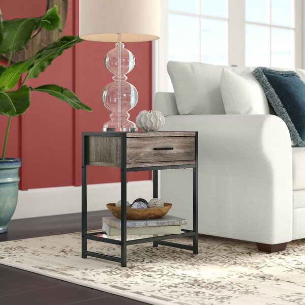 Hammons End Table With Storage By Wrought Studio