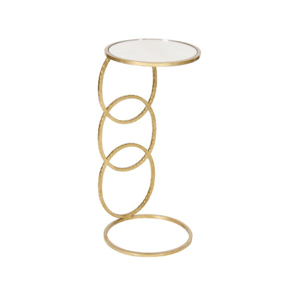 3 Ring Hammered Cigar C Table by Worlds Away