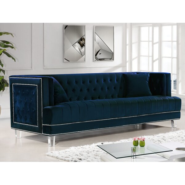 Luxury Brands Hettie Chesterfield Sofa by Willa Arlo Interiors by Willa Arlo Interiors
