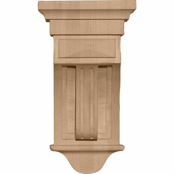 Raised Fluting 10H x 5 1/2W x 5 1/2D Corbel in Cherry by Ekena Millwork