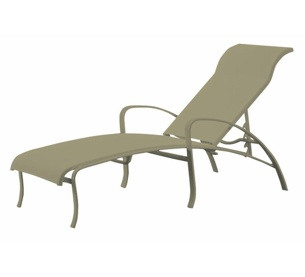 Spinnaker Reclining Chaise Lounge by Tropitone