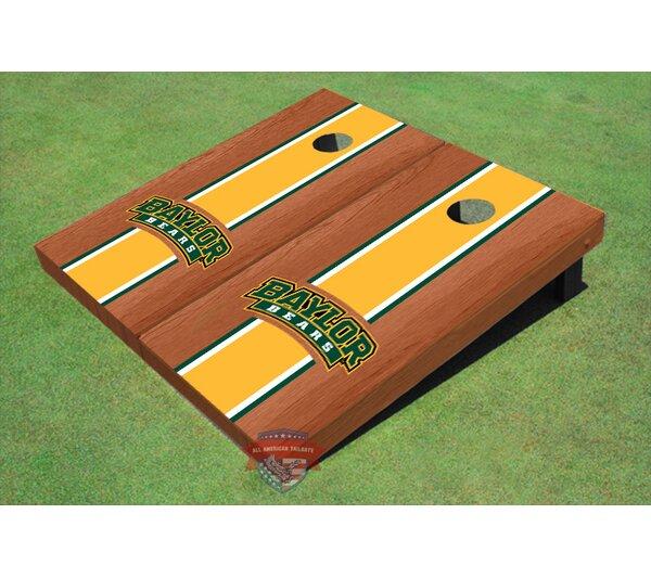NCAA Rosewood Matching Long Stripe Cornhole Board (Set of 2) by All American Tailgate