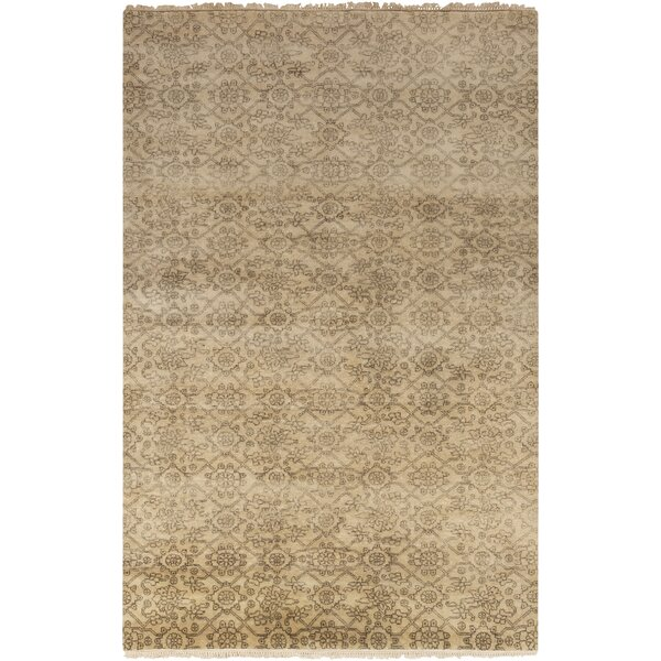 Harrisville Hand Woven Wool Ivory/Khaki Area Rug by Gracie Oaks