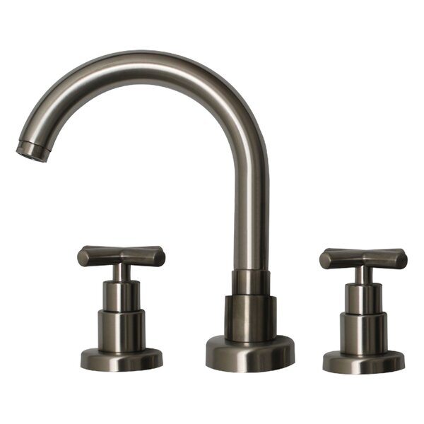 Luxe Widespread Bathroom Faucet With Double Cross Handles By Whitehaus Collection