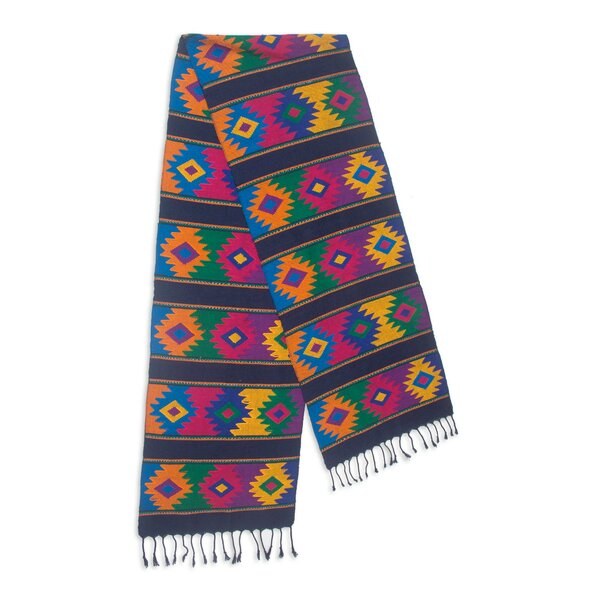 Maya Hand-Woven Cotton Table Runner by Novica