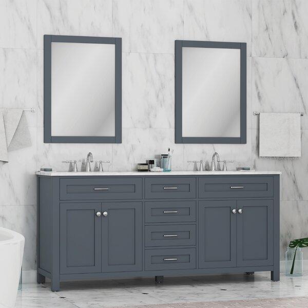 Cecilton 72 Double Bathroom Vanity Set