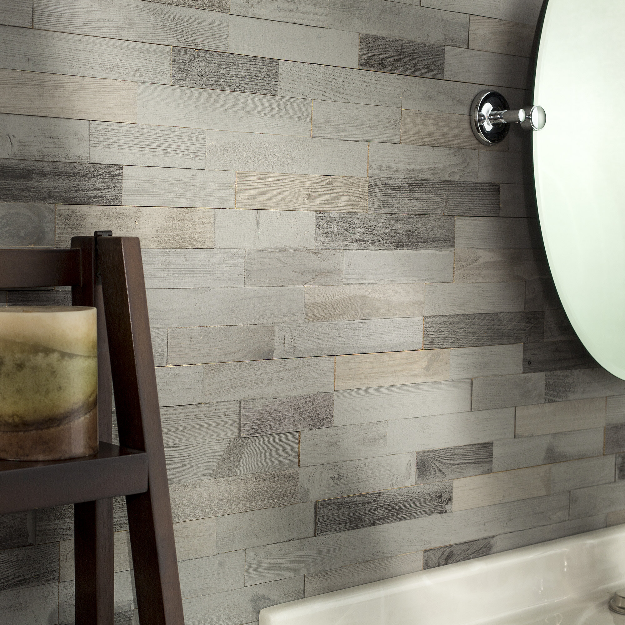 aspect 6 5 x 24 wood peel stick mosaic tile in weathered barn