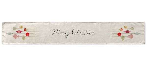 Merry Christmas Ornament Table Runner by KAVKA DESIGNS