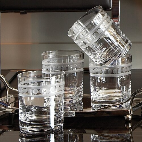 2 Band Double Old Fashion Glasses (Set of 6) by Global Views