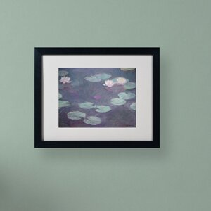 Pink Lilies 1897-1899 by Claude Monet Matted Framed Painting Print by Trademark Fine Art