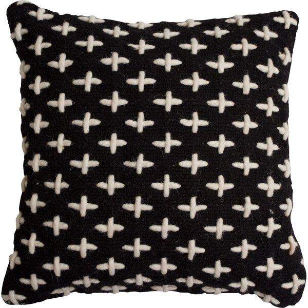 Mima Cross Stitch Wool Throw Pillow by Blu Dot