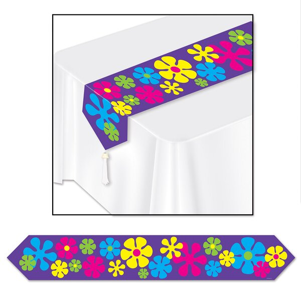 Retro Flowers Table Runner (Set of 3) by The Holiday Aisle