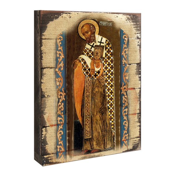 Inspirational Icon Saint Nickolas Painting by G Debrekht