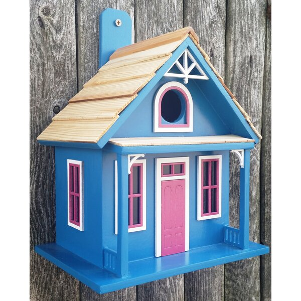Santa Cruz Cottage 9 in x 6 in x 8 in Birdhouse by Home Bazaar