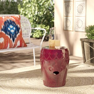 Lahjar Drum Ceramic Garden Stool