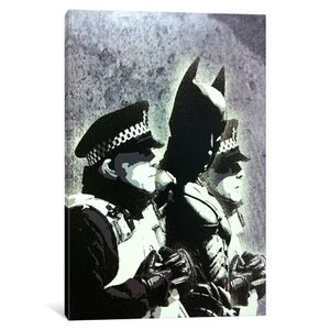 Batman and the Police by Banksy Graphic Art on Wrapped Canvas by iCanvas