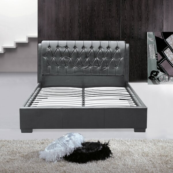 Queen Upholstered Platform Bed by Fine Mod Imports