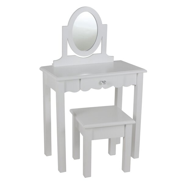 Dannie Vanity Set with Mirror by Harriet Bee