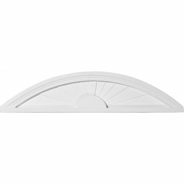 9H x 40W x 1 3/4D Elliptical Sunburst Pediment by Ekena Millwork