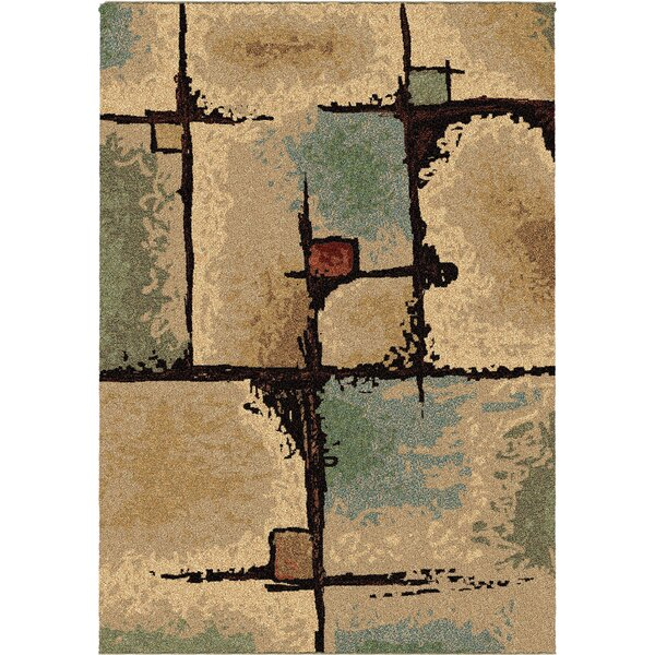 Jacci Jada Beige/Blue Area Rug by The Conestoga Trading Co.