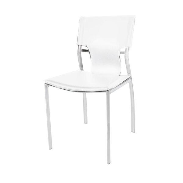 Poplin White Upholstered Dining Chair by Orren Ellis
