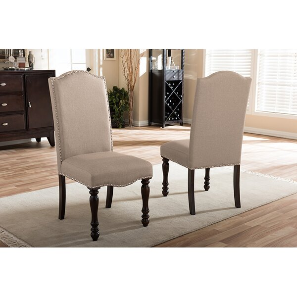 Exchange Upholstered Dining Chair (Set of 2) by Alcott Hill