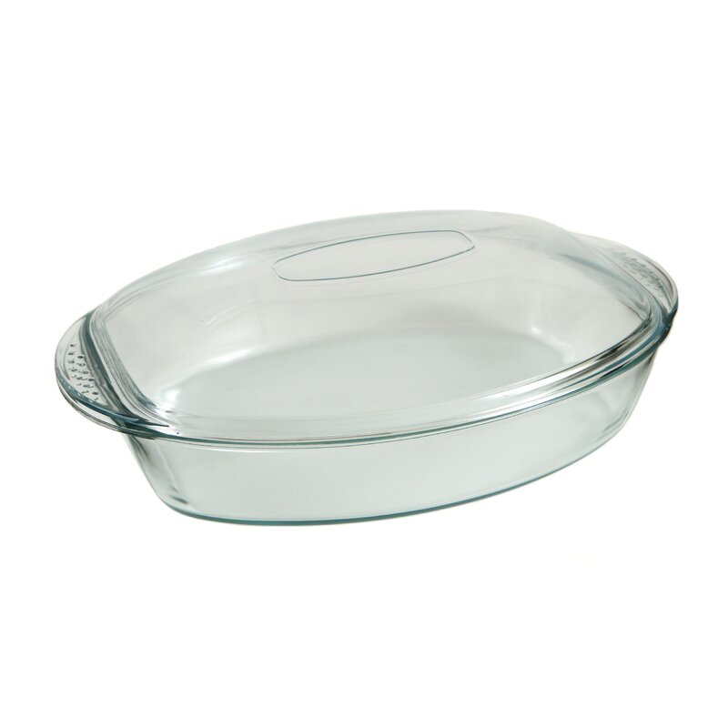 Marinex Prediletta 4 Qt Glass Oval With Lid Wayfair