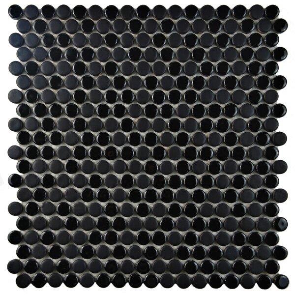 Astraea 0.62 x 0.62 Porcelain Mosaic Tile in Black by EliteTile
