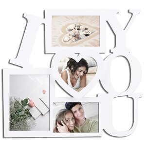 "4 Opening ""I Love You"" Collage Picture Frame"