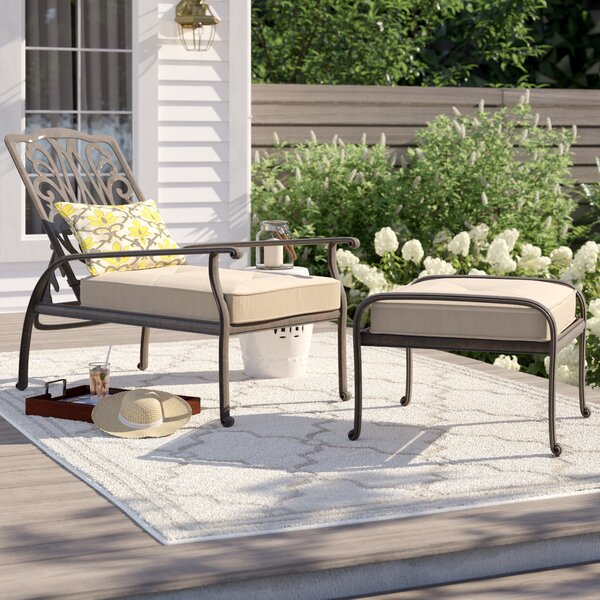 Lebanon Adjustable Patio Chair with Ottoman by Three Posts Three Posts