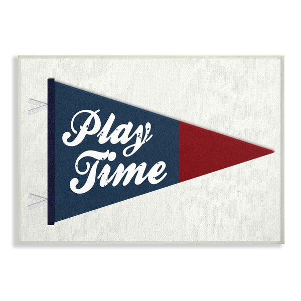 Faucher Play Time Pennant Decorative Plaque by Harriet Bee