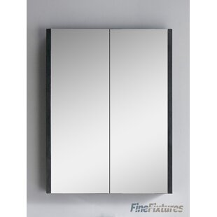 Top Bourgoin 24 x 31.5 Surface Mount Medicine Cabinet By Wrought Studio
