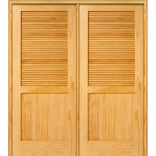 Half Double Solid Manufactured Wood Louvered MDF Prehung Interior Door