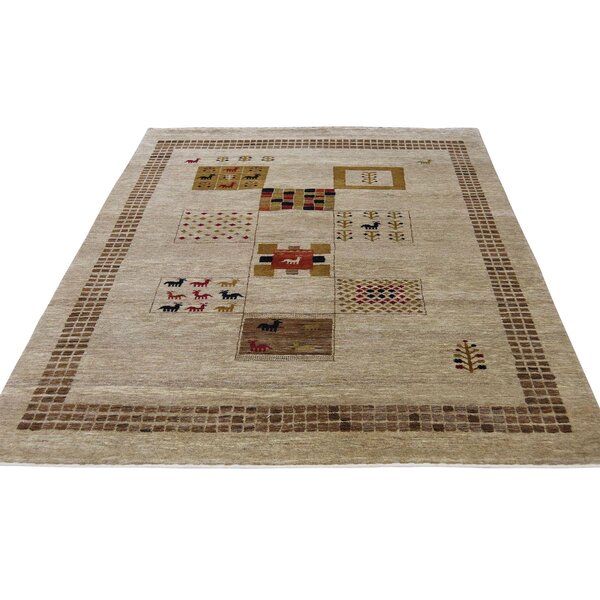 One-of-a-Kind Rothenberg Hand-Knotted Chocolate Brown Area Rug by Loon Peak