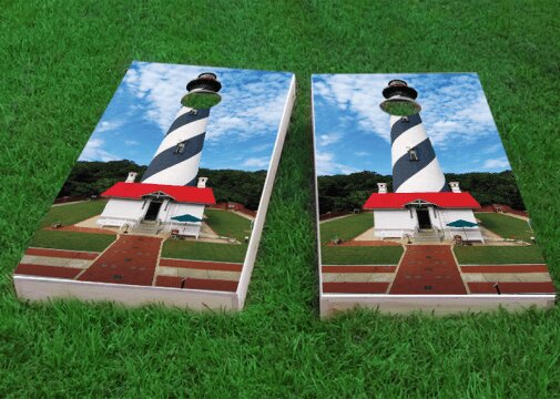 St. Augustine Lighthouse Cornhole Game (Set of 2) by Custom Cornhole Boards