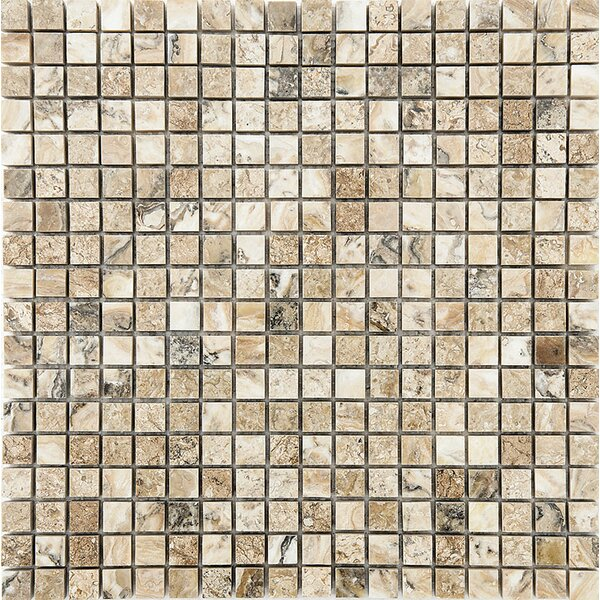 0.625 x 0.625 Stone Mosaic Tile in Antico Polished by Parvatile