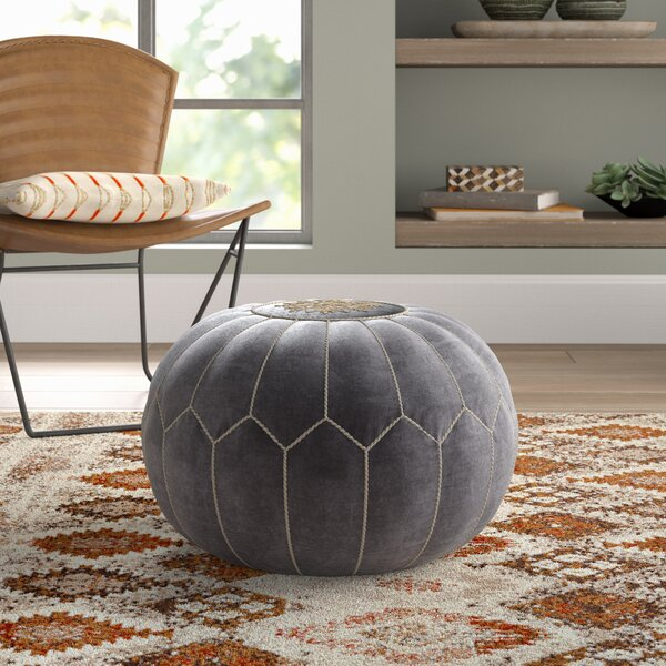 Bedias Velvet Pouf by Bungalow Rose