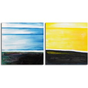 From Dusk til Dawn' 2 Piece Painting on Wrapped Canvas Set by Omax Decor