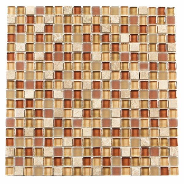 Paragon 12 x 12 Glass & Stone Mosaic Tile in Nutmeg Mixed by Kellani