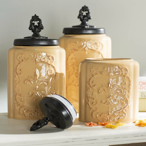 3 Piece Kitchen Canister Set By Design Guild.