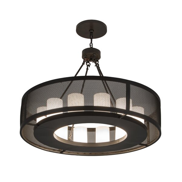 Clearbrook 12 - Light Unique / Statement Drum Chandelier By Foundry Select