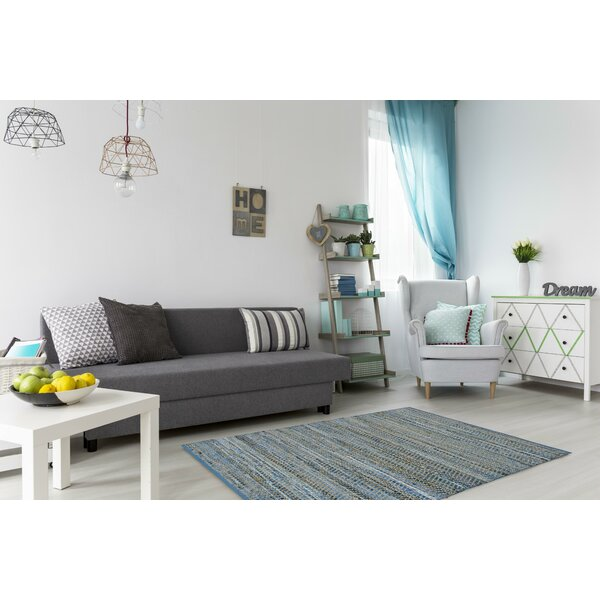 Synthia Braided Cotton Blue/Natural Area Rug by Laurel Foundry Modern Farmhouse