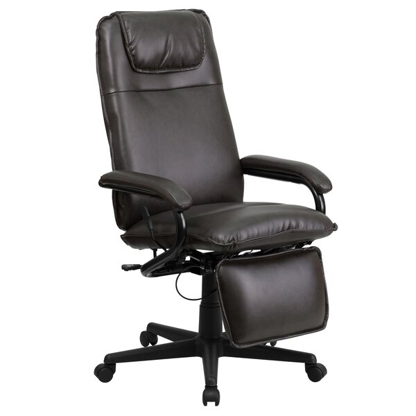 High Back 25 Leather Drafting Chair by Offex