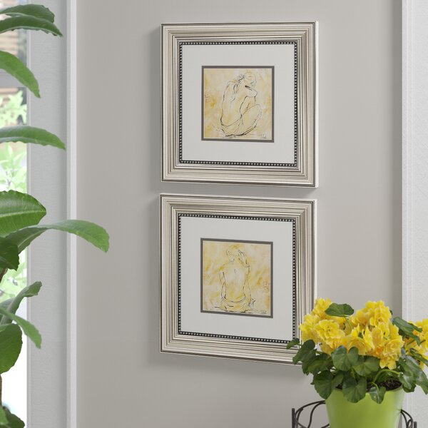 Sketch 2 Piece Framed Painting Print Set by Alcott Hill