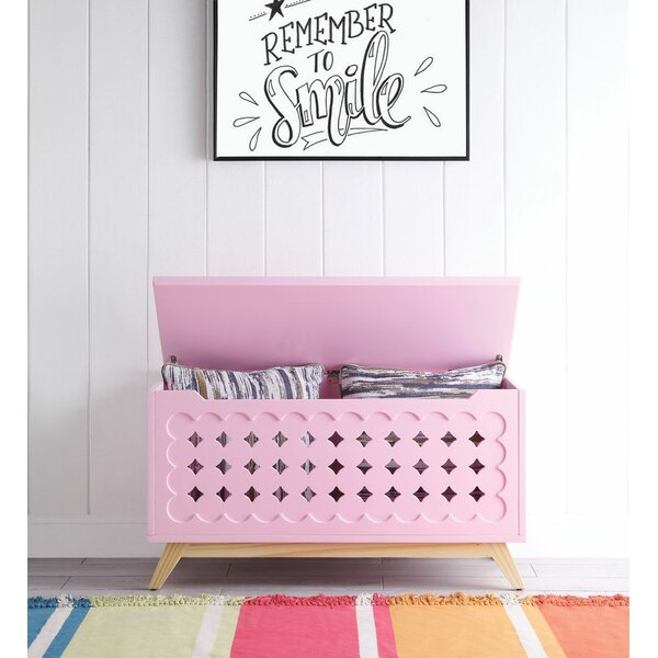 Burbank Wooden Lift Top Storage Bench By Zoomie Kids Today Only Sale