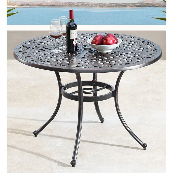 Lona Mesh Lattice Metal Dining Table By Fleur De Lis Living